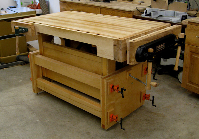 Davids adjustable height workbench