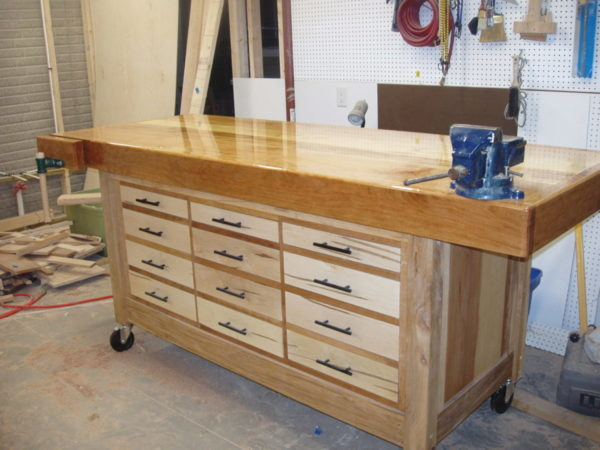 Workbench Plans Diy Adjustable Height Wood Workbench Plans