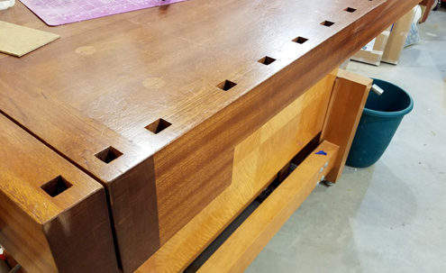 DIY Workbench Dog Holes