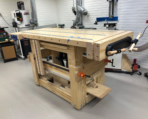 Custom Adjustable Height Workbench